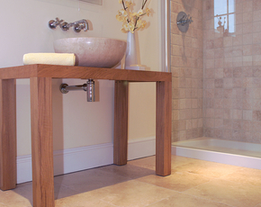 Honed Aspendos Travertine and Tumbled Travertine Wall Tiles