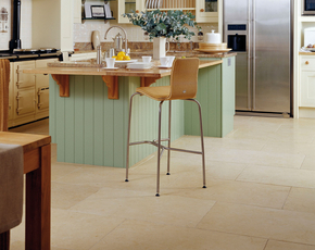 Antique Limestone Kitchen Floor
