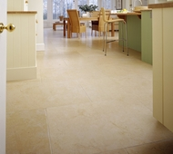 Brushed Antique Limestone Kitchen Floor