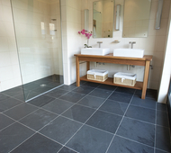 Mountain Black Slate Wet Room
