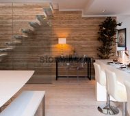 Silver Walnut Vein Cut Travertine wall