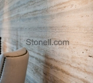 Silver Walnut Travertine wall