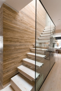 Vein Cut Silver Walnut Travertine Wall Cladding