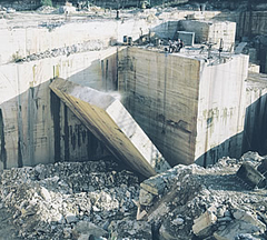 Natural stone quarry.