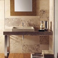 Flat Travertine Basin